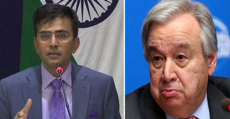 رد-الهند-على-الأمين-العام-للأمم-المتحدة-بشأن-كشمير-–-لا-شك-في-وساطة-طرف-ثالث