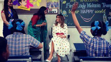 """أشاد-ميلانيا-مدرسة-دلهي-الحكومية-،-وقال-تجربة-""""فئة-السعادة"""""""