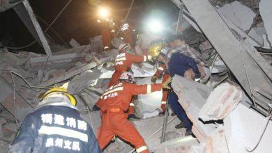 حادث-كبير!-انهار-مبنى-يضم-70-مريضا-بالكورونا-في-الصين-،-وتم-انقاذ-33-شخصا-حتى-الآن