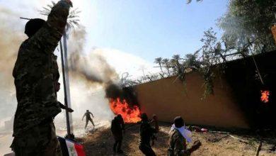 هجوم-صاروخي-بالقرب-من-السفارة-الأمريكية-في-بغداد-،-وزيادة-الأمن