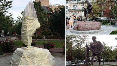 المتظاهرون-يدمرون-تمثال-المهاتما-غاندي-،-وتعتذر-الولايات-المتحدة