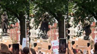 تم-تدمير-تمثال-عمره-120-عامًا-من-قبل-المتظاهرين-الذين-خرجوا-احتجاجًا-على-العنصرية-في-بريطانيا