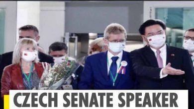 ورحب-وزير-الخارجية-التشيكي-بوفد-تشيكي-يصل-تايوان-وسط-احتجاج-الصين