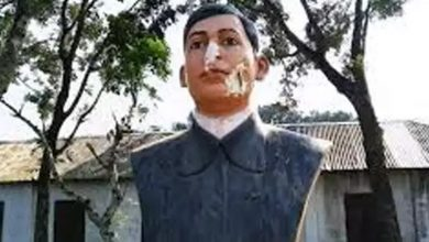 بنغلادش:-تحطم-تمثال-المناضل-باغا-جاتين-بعد-اعتقال-بانغاباندو-،-واعتقال-3-منهم