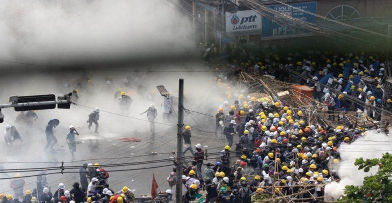 ميانمار:-الإدارة-العسكرية-تضطهد-بشدة-المتظاهرين-،-6-قتلى-في-إطلاق-نار-بالغاز-المسيل-للدموع