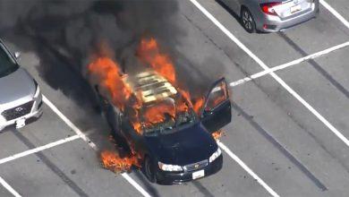 المطهر-اليدوي-أثناء-التدخين-،-السيارات-الثقيلة-أصبحت-كرة-نارية-؛-بالكاد-أنقذت-حياة-السائق