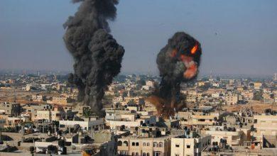 اسرائيل-تشن-مجددا-غارة-جوية-على-قطاع-غزة-مما-أسفر-عن-مقتل-213-شخصا.-كما-تم-تدمير-معمل-اختبار-الهالة-الوحيد